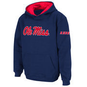 Youth Stadium Athletic Navy Ole Miss Rebels Big Logo Pullover Hoodie