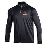 Men's Under Armour Black Texas Tech Red Raiders 1/4 Zip Performance Top