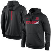 Men's Nike Black Rutgers Scarlet Knights Sideline KO Fleece Therma-FIT Performance Hoodie