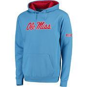 Men's Stadium Athletic Light Blue Ole Miss Rebels Big Logo Pullover Hoodie