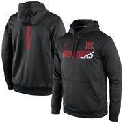 Men's Nike Black Rutgers Scarlet Knights Sideline Fleece Therma-FIT Performance Hoodie