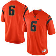 Men's Nike #6 Orange Oregon State Beavers Replica Game Football Jersey