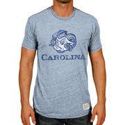 Men's Original Retro Brand Carolina Blue North Carolina Tar Heels Vintage Mascot Tri-Blend T-Shirt