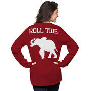 Women's Crimson Alabama Crimson Tide The Big Shirt Oversized Long Sleeve T-Shirt