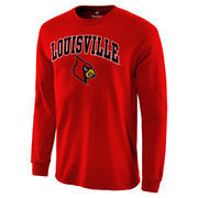 Men's Red Louisville Cardinals Campus Long Sleeve T-Shirt