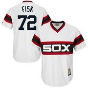 Men's Majestic Carlton Fisk White Chicago White Sox Cool Base Cooperstown Collection Player Jersey