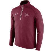 Men's Nike Maroon Montana Grizzlies Football Coaches Sideline Half-Zip Tri-Blend Performance Knit Top