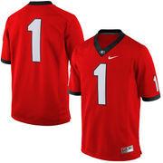 Men's Nike Red Georgia Bulldogs #1 Limited Football Jersey