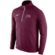 Men's Nike Maroon Montana Grizzlies Football Coaches Sideline Half-Zip Tri-Blend Performance Knit Top