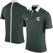 Men's Nike Green Michigan State Spartans Coaches Sideline Performance Polo