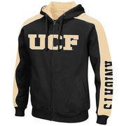 Men's Colosseum Black/Gold UCF Knights Thriller II Full-Zip Hoodie