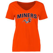 Women's Orange UTEP Miners Proud Mascot Slim Fit T-Shirt