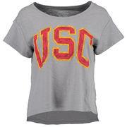 Women's Gray USC Trojans Lindley Slub T-Shirt