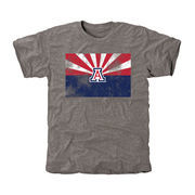 Men's Ash Arizona Wildcats State Flag Tri-Blend T-Shirt