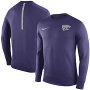 Men's Nike Purple Kansas State Wildcats Sideline KO Performance Fleece Crew Sweatshirt