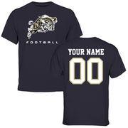 Men's Navy Navy Midshipmen Personalized Football T-Shirt