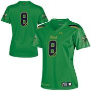 Women's Under Armour No. 8 Kelly Green Notre Dame Fighting Irish 2015 Shamrock Series Replica Football Jersey