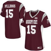 Women's Colosseum Maroon Mississippi State Bulldogs Football Jersey