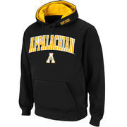 Men's Stadium Athletic Black Appalachian State Mountaineers Arch & Logo Pullover Hoodie