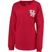 Women's Red Houston Cougars H-Town Takeover Pom Pom Jersey Long Sleeve T-Shirt
