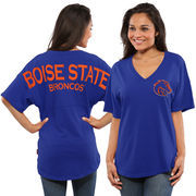 Women's Royal Boise State Broncos Spirit Jersey Oversized T-Shirt