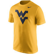 Men's Nike Gold West Virginia Mountaineers Logo T-Shirt