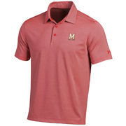 Men's Under Armour Red/Gray Maryland Terrapins Kirkby Performance Polo