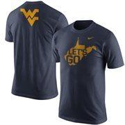 Men's Nike Navy West Virginia Mountaineers Official WVU Fan T-Shirt