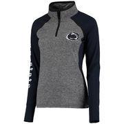Women's Gray/Navy Penn State Nittany Lions Finalist Quarter-Zip Pullover Jacket