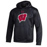 Men's Under Armour Black Wisconsin Badgers Big Logo Storm Performance Pullover Hoodie