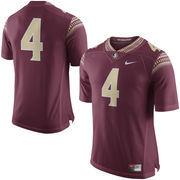 Men's Nike Garnet Florida State Seminoles No. 4 Limited Football Jersey