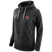 Women's Nike Black Oregon State Beavers Tailgate Gym Vintage Full-Zip Hoodie