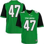 Men's Nike #47 Kelly Green Marshall Thundering Herd Game Jersey