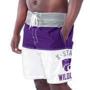 Men's Purple Kansas State Wildcats Tommy John Boardshorts