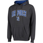 Men's Charcoal Air Force Falcons Lightning Arch & Logo Pullover Hoodie