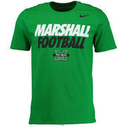 Men's Nike Kelly Green Marshall Thundering Herd The Heard Practice T-Shirt