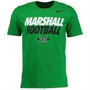 Men's Nike Kelly Green Marshall Thundering Herd The Heard Practice T-Shirt
