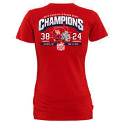 Women's Red Houston Cougars 2015 Peach Bowl Champions Touchdown Slim Fit T-Shirt