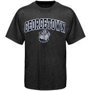 Men's New Agenda Charcoal Georgetown Hoyas Arch Over Logo T-Shirt