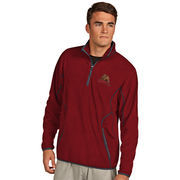 Men's Antigua Red Cornell Big Red Ice Quarter-Zip Jacket