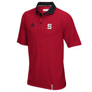 Men's adidas Red NC State Wolfpack climachill Polo