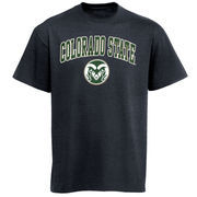 Mens Charcoal Colorado State Rams Arch Over Logo T-Shirt