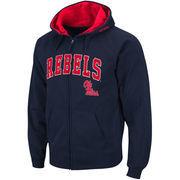 Men's Stadium Athletic Navy Ole Miss Rebels Arch & Logo Full Zip Hoodie
