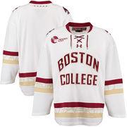 Men's Under Armour White Boston College Eagles Replica Hockey Jersey