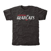 Men's Black Cincinnati Bearcats Classic Wordmark Tri-Blend T-Shirt