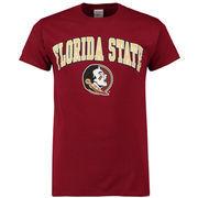 Men's New Agenda Garnet Florida State Seminoles Arch Over Logo T-Shirt