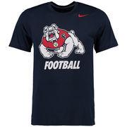 Men's Nike Navy Fresno State Bulldogs Legend Logo Performance T-Shirt