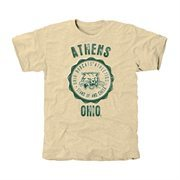 Ohio Bobcats Old-School Seal Tri-Blend T-Shirt - White