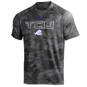 Men's Under Armour Black TCU Horned Frogs Tech Camo Performance T-Shirt