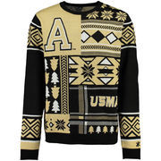 Men's Black Army Black Knights Patches Ugly Sweater